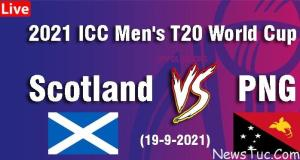 Live Streaming SCO vs PNG t20 WCup