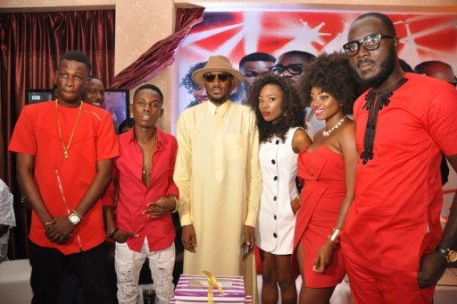 Jay Dreamz, Acetune, Tuface Idibia, Jitey Peterz, Zorah and LACE at the One Mic All-Stars album launch and Tuface's 40th birthday celebration in Lagos on Friday