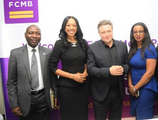 From left: The Executive Director, Institutional Banking of First City Monument Bank (FCMB), Mr. Femi Bakre; the Divisional Head, Human Resources and Change Management, Felicia Obozuwa; UK's Most Prestigious Television Media Award Winner/Guest Speaker, Mr. Inigo Gilmore and the Bank's Group Head, Corporate Communications, Uchenna Mojekwu, during a media parley/workshop organised for Online Journalists by FCMB on September 29, 2015 in Lagos