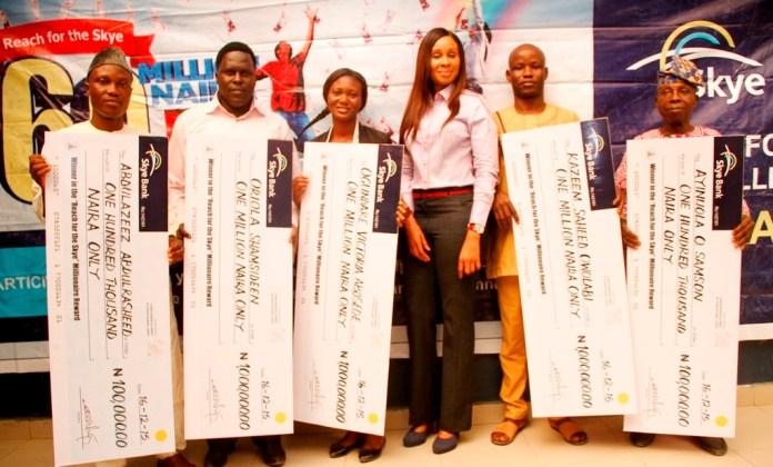 Skye Bank presents cheques to winners of Millionaire Reward Scheme (PHOTO)