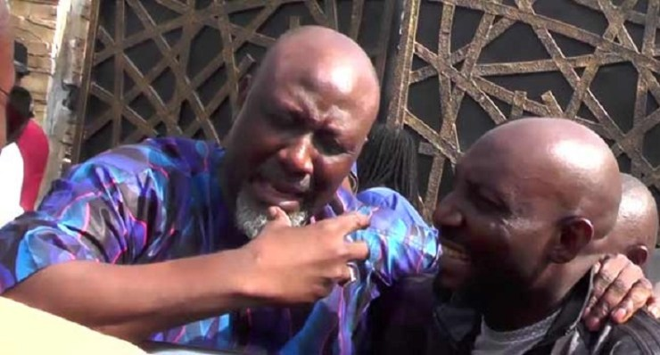 DRAMATIC Dino Melaye surface, slumped after eight-day siege