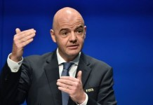 Infantino re-elected unopposed as FIFA president
