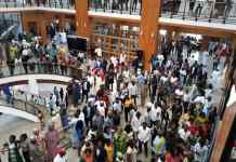 Job seekers throng House of Reps. entrance