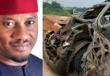 "Yul Edochie survives ""terrible"" car crash"