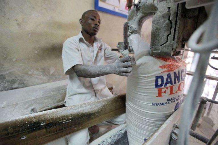 Dangote Flour - Dangote Flour workers protest over non-payment of gratuities