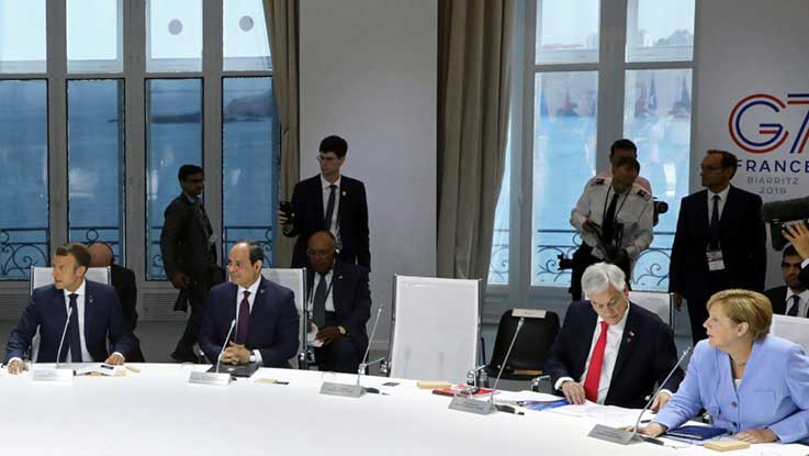 Trump absent from climate session at G-7 summit