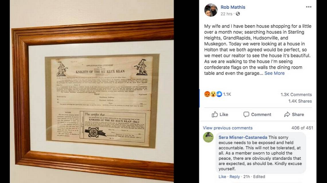 Michigan police officer placed on leave for KKK memorabilia