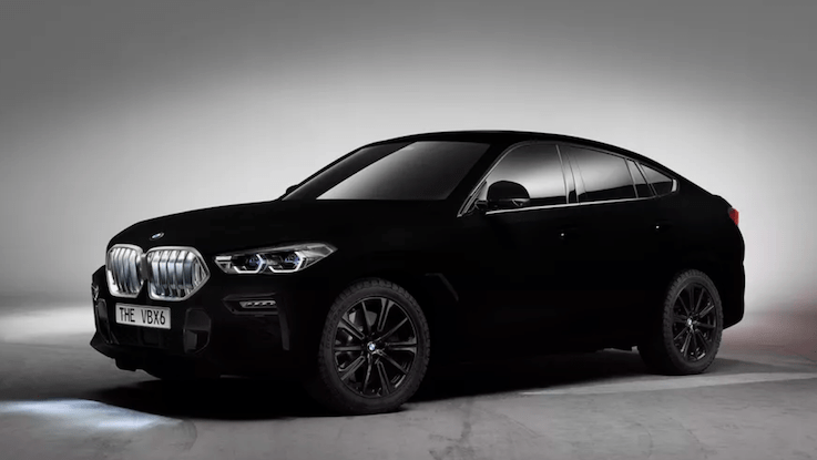 Back in Black: 2020 BMW X6 in Vantablack
