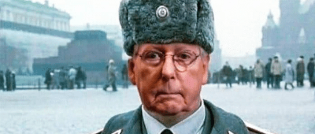 Moscow Mitch denies funds for KY coal miners to fund Russian backed company