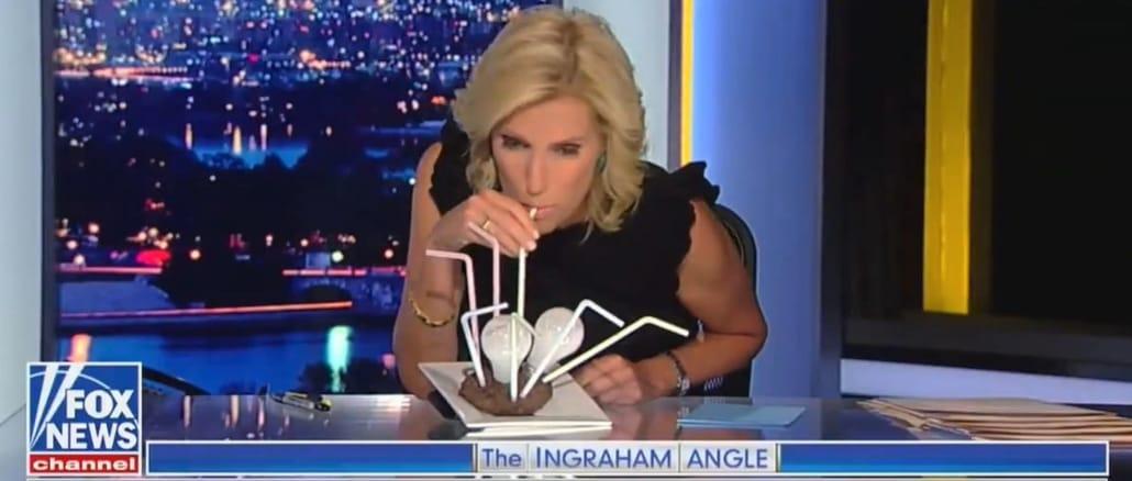 Wing Nut Watch: Laura Ingraham sucks a light bulb steak to 'trigger' the libs