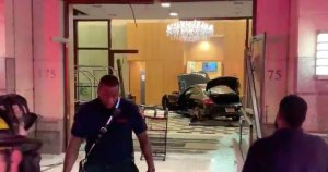 Car slams into lobby at Trump Tower- New Rochelle, NY