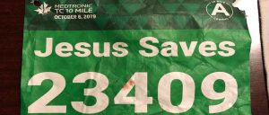 Runner with 'Jesus Saves' bib saved by nurse named Jesus after collapsing during race!