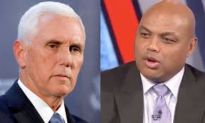 Pastor Pence accuses the NBA of bowing down to China; Charles Barkley says  'shut the hell up'.