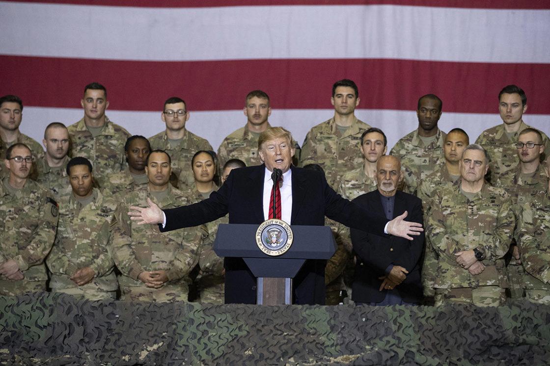 Behind Trump's secret war-zone trip: A Mar-a-Lago escape, a twin Air Force One and a Twitter plan