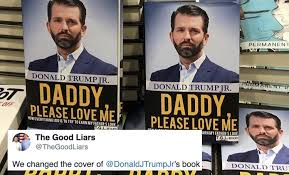 Comedians go into Barnes & Noble and replace the covers of Trump Jr's new book