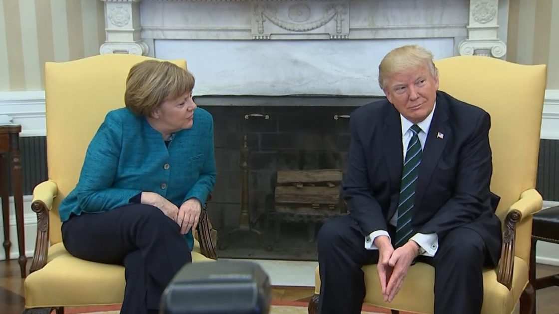 Trump – Merkel press conference at NATO