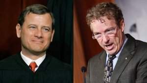 Chief Justice Roberts declines to read Rand Paul's question related to the whistleblower