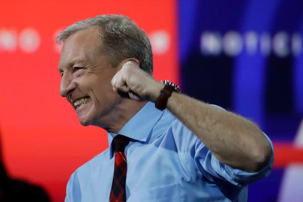 The field just got one candidate smaller: Tom Steyer drops out of the race