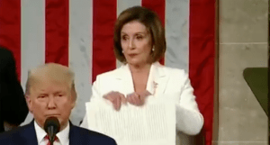 Nancy Pelosi rips up Trump's speech: 'Because it was a courteous thing to do considering the alternative.'