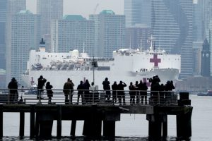 The Pictures We Didn't See of the Arrival of the USNS Comfort into New York
