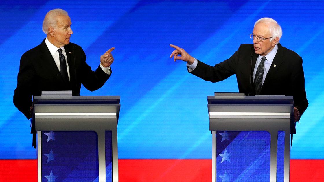 The two man, Democratic Debate