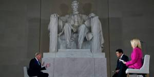 At the Lincoln Memorial, Trump claimed he's been treated worse than President Lincoln