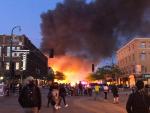 Minneapolis burns: Officials have yet to announce any charges against the officers involved in George Floyd's death