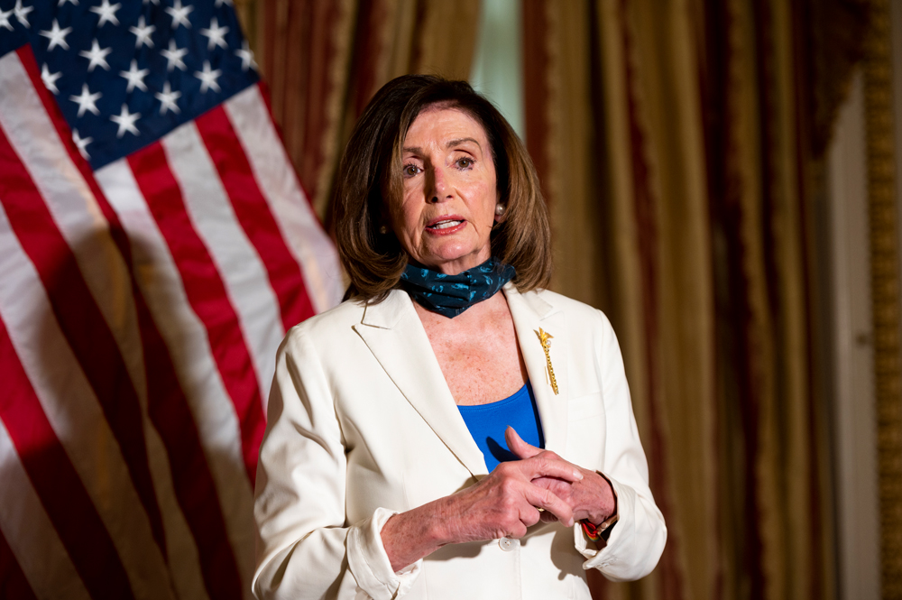 Nancy Pelosi With Bible in Hand Urges Trump to be a Healer-in-Chief