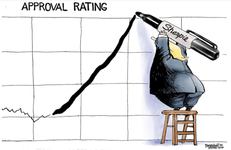 Trump sucks and his overall job approval rating proves it
