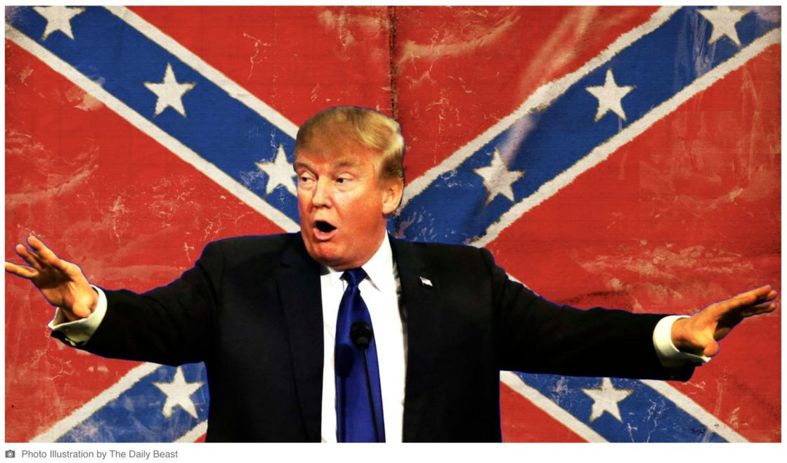 Trump perpetuates White Supremacy; won't rename military bases named after Confederate traitors