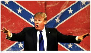The Racist in Chief defends the Confederate flag; rejects that Black people suffer disproportionately from police brutality