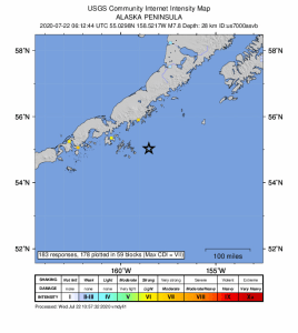 Preliminary magnitude 7.8 earthquake strikes off coast of Alaska