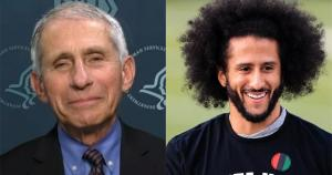 """Dr. Fauci and Colin Kaepernick to receive award for """"commitment to social change"""""""