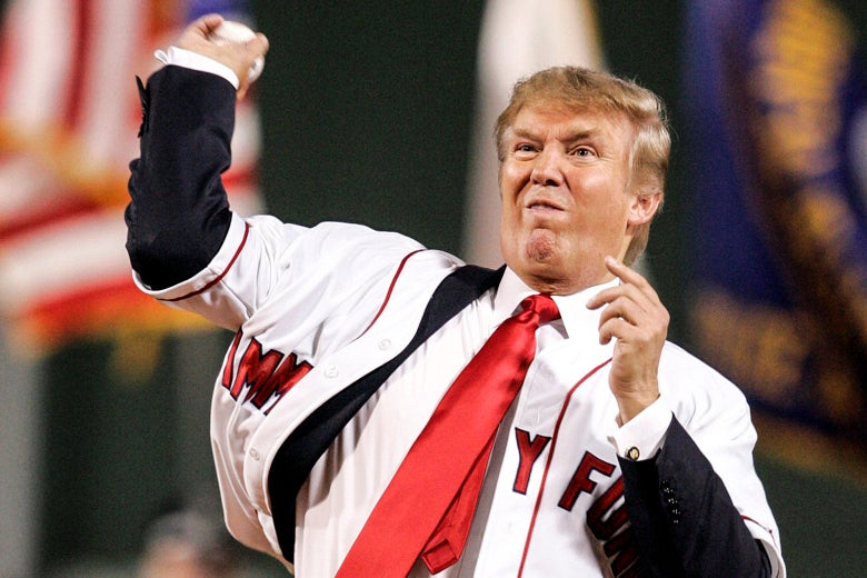 Trump's Announcement to Throw Opening Pitch for Yankees was Fake News