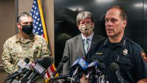 Kenosha police chief suggests people out 'after the curfew' are to blame for fatal shooting