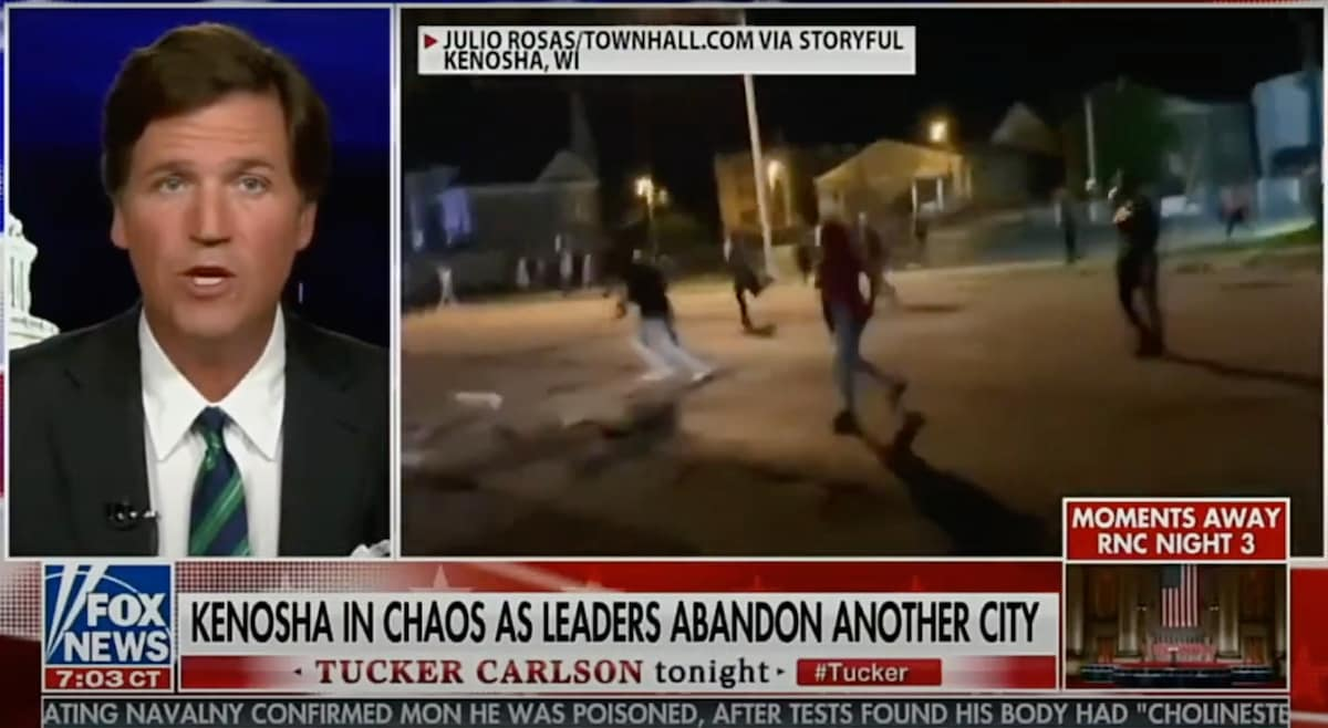 Tucker Carlson sparks condemnation with comments about deadly Kenosha shooting