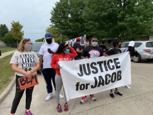 Justice for Jacob Blake rally held in Kenosha to counter Pres. Trump visit