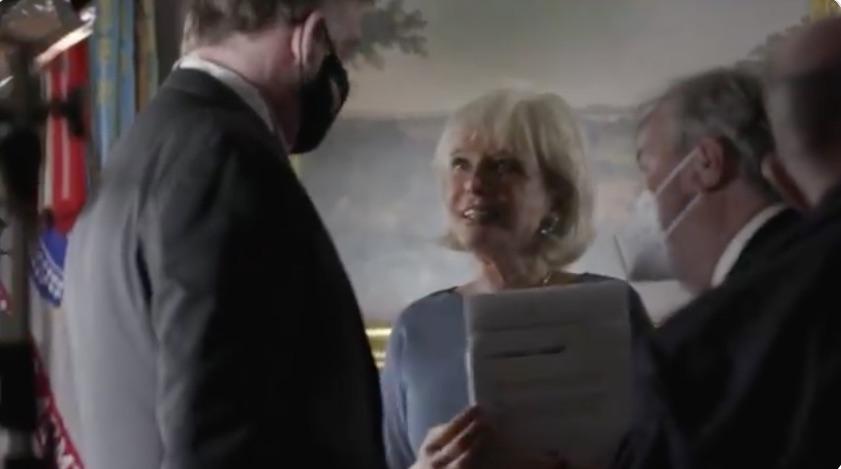 Trump Posts Video to Mask-Shame Lesley Stahl
