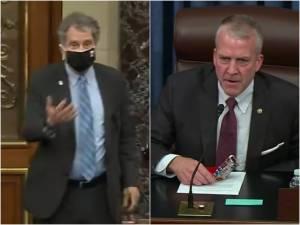 Ohio Senator Sherrod Brown asks Republican senators to wear masks; they refuse