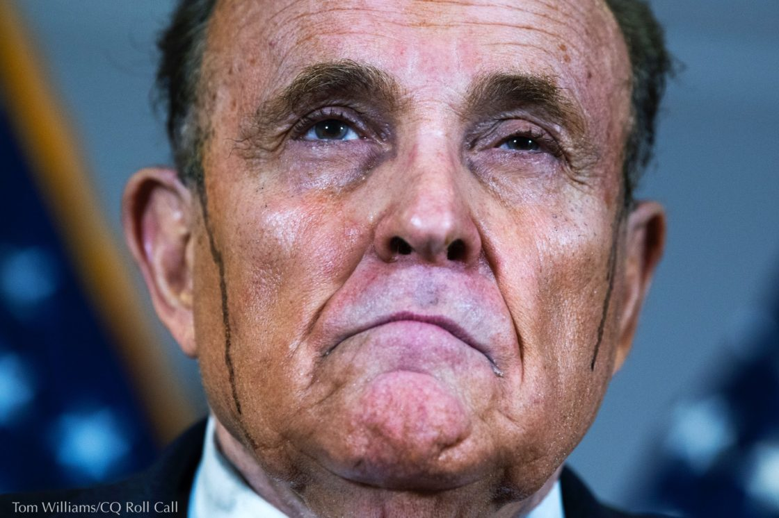 Giuliani voted in the 2020 election by  provisional ballot, something he and his 'client' bashed