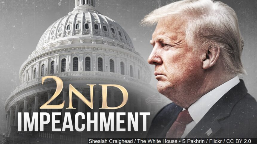 The House of Representatives votes to impeach Trump again
