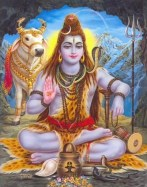 Shiva mit Linga und Nandi