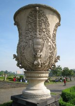 Amazing Garuda decorative garden vase in Merdeka Square, Central Jakarta, Indonesia