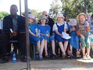 People with albinism at the launch.