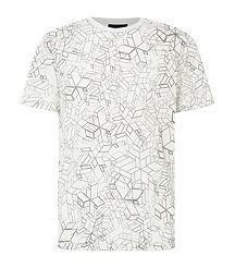 Geometric print men tshirt