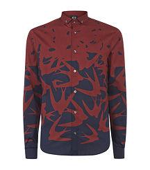 burgundy alexander mcqueen shirt