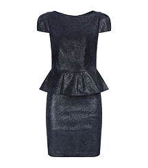 leather blue dress