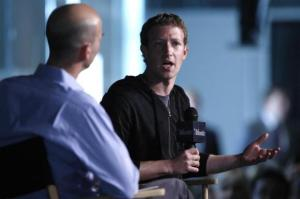 Mark Zuckerberg speaks during an onstage interview with James Bennet of the Atlantic Magazine in Washington