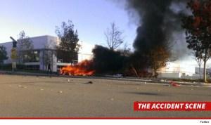 Paul Walker Accident Scene (Photo Credit: TMZ)