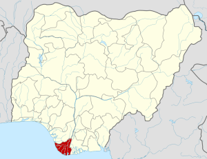 Bayelsa State in the Map